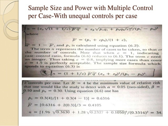 Power and Sample Size Calculations for Case-Control ...