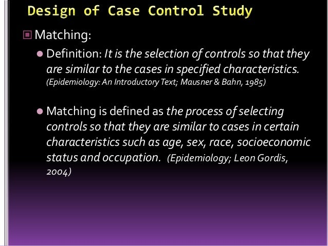 Epidemiology and Clinical Research Design  Part    Study Types