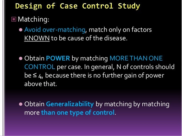 Analysis of case control studies ppt