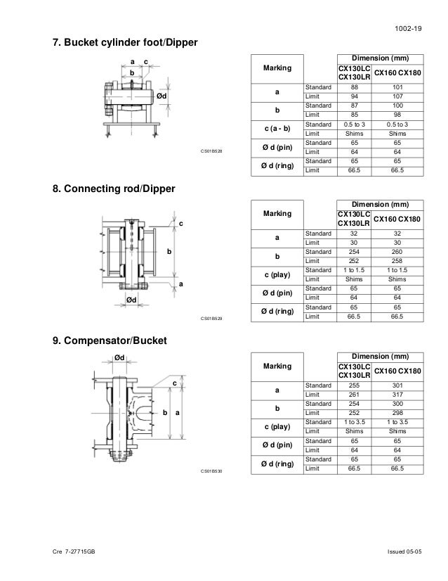 Case cx130 crawler excavator service repair manual