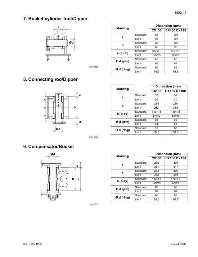 Case cx160 crawler excavator service repair manual
