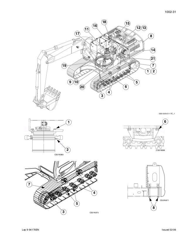 Case cx330 tier 3 crawler excavator service repair manual