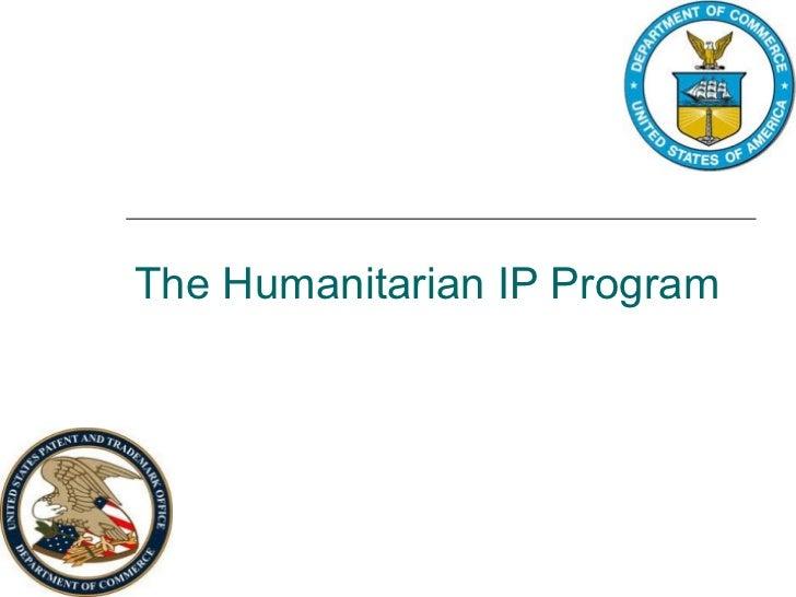 The Humanitarian IP Program
