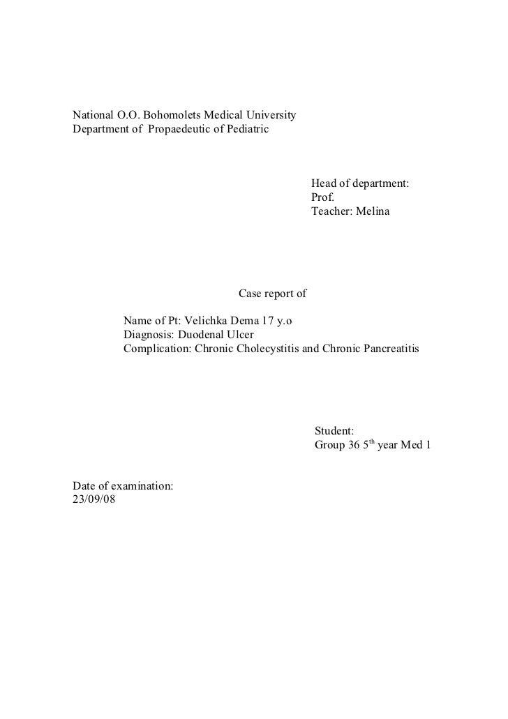 National O.O. Bohomolets Medical UniversityDepartment of Propaedeutic of Pediatric                                        ...