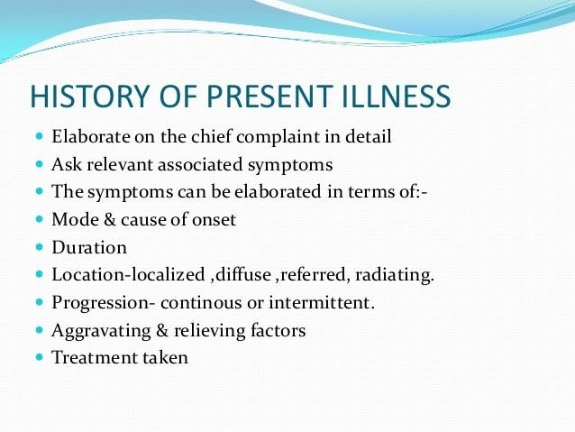 case history With history of present illness template