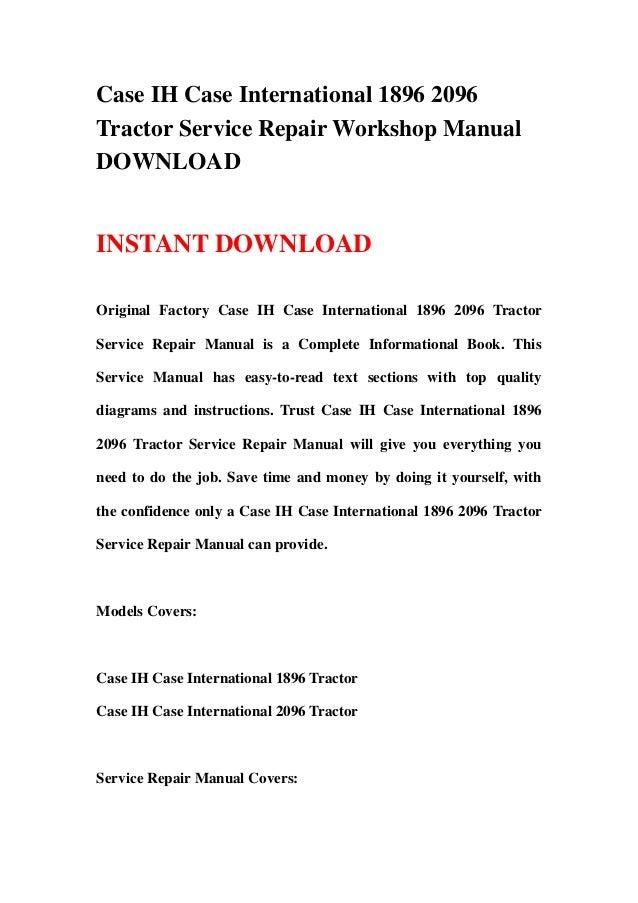 hyster 65 forklift wiring diagram case ih case international 1896 2096 tractor service  case ih case international 1896 2096 tractor service