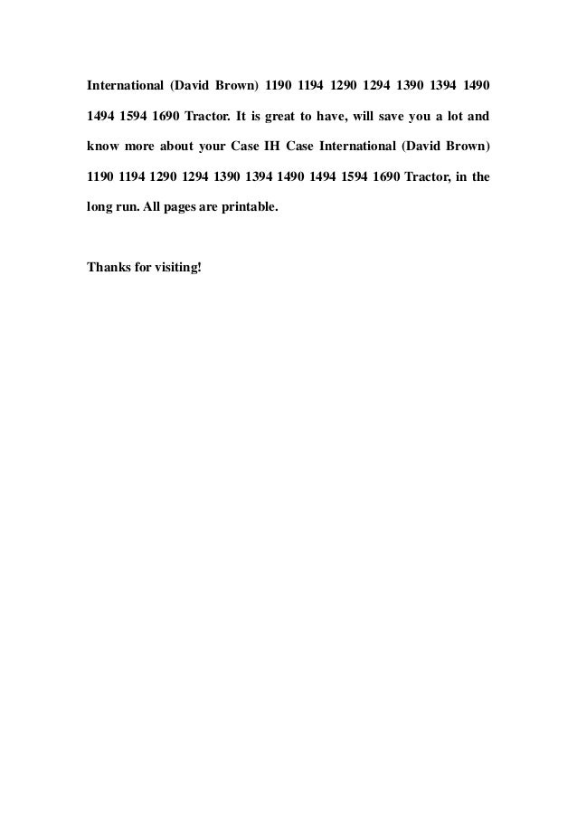 case ih case international david brown 1190 1194 1290 1294 1390 1394 1490 1494 1594 1690 tractor service repair workshop manual download 3 638?cb=1358564624 case ih case international (david brown) 1190 1194 1290 1294 1390 139 Case 410 Wiring-Diagram at alyssarenee.co
