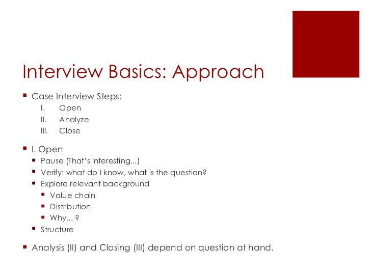 consulting case study interview preparation Sample case interview 26 interview questions the top 10 consulting the key to any good interview is preparation—and there's no better preparation.