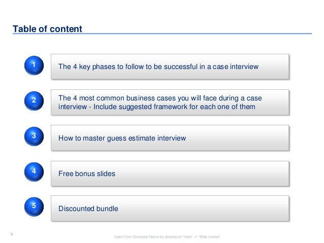 business cases for interviews