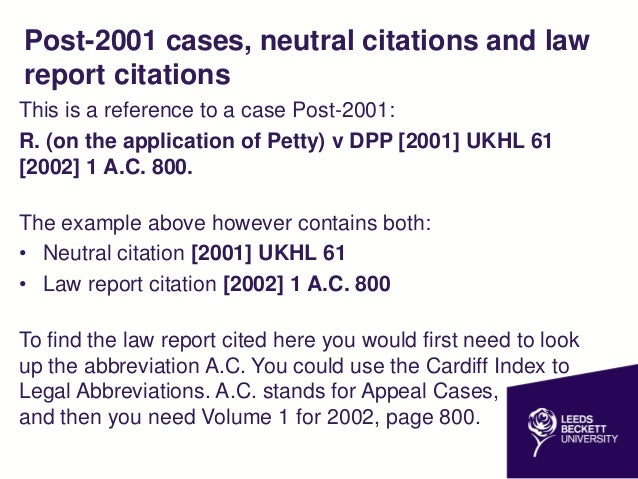 how to read case law citation
