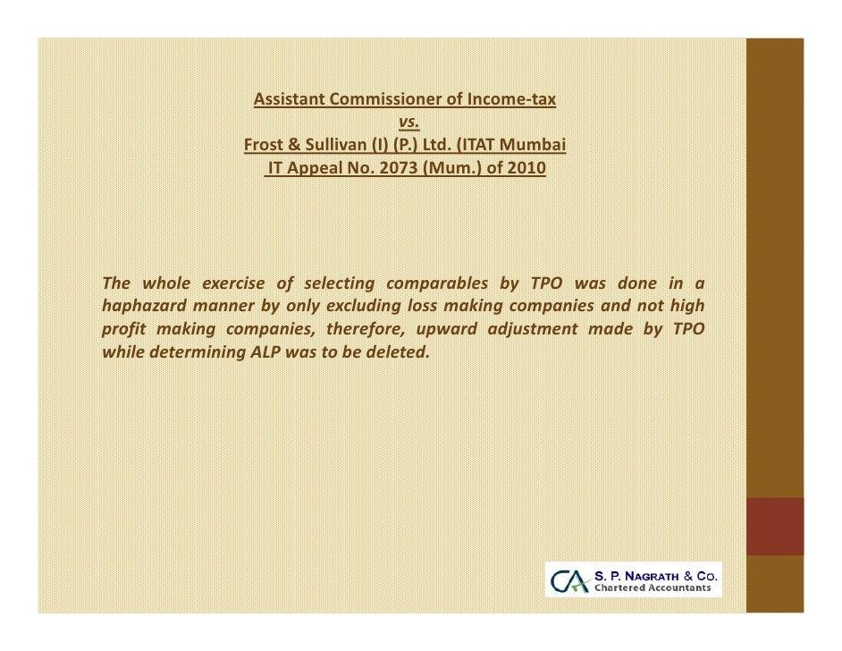 AssistantCommissionerofIncome‐tax                                      vs.                Frost&Sullivan(I)(P.)L...