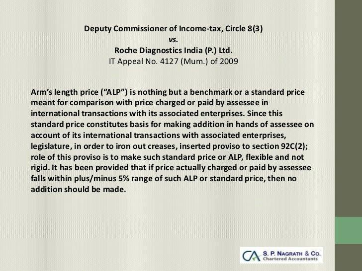 Deputy Commissioner of Income-tax, Circle 8(3)                                   vs.                     Roche Diagnostics...