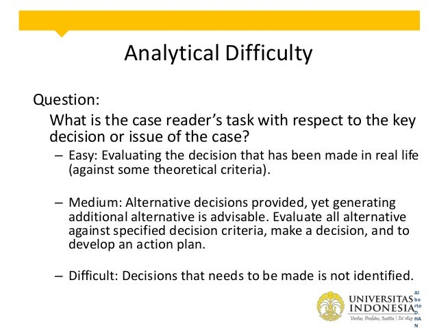decision analysis case study Read this essay on the mba decision case study analysis come browse our large digital warehouse of free sample essays get the knowledge you need in order to pass your classes and more only at termpaperwarehousecom.
