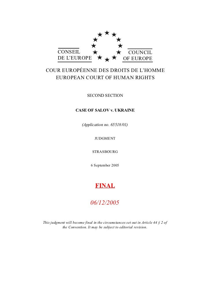 CONSEIL                                     COUNCIL         DE L'EUROPE                                OF EUROPE COUR EURO...