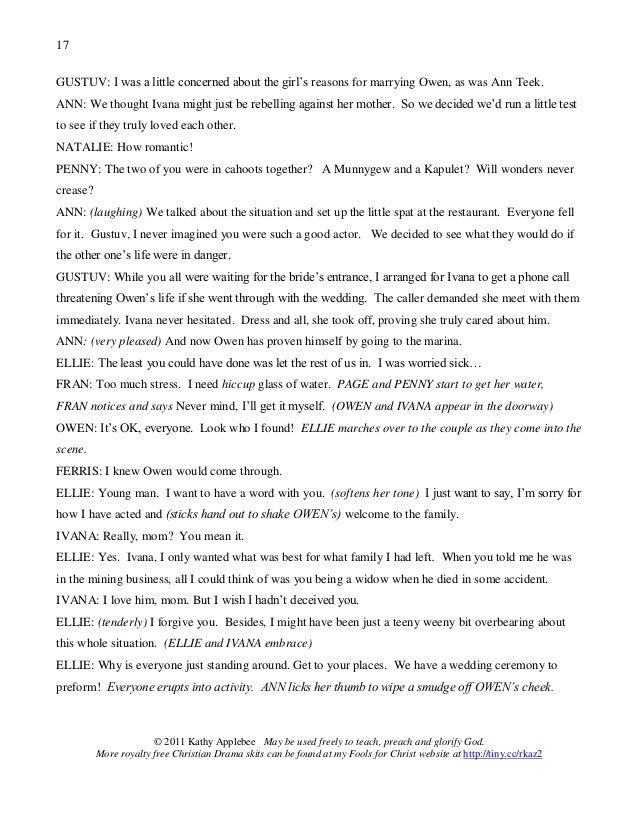Case Of The Missing Bride Script