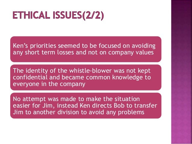 the case of the willful whistleblower Whistle blower policy  (an act of willful misrepresentation which would  in which case the information will be retained for the duration.