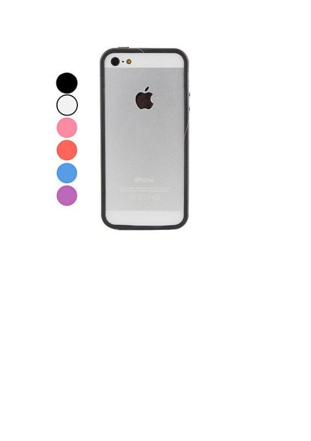 Case pára choques transparente para iphone 5