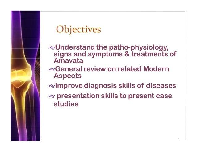 Clinical presentation on rheumatoid arthritis (amavata).