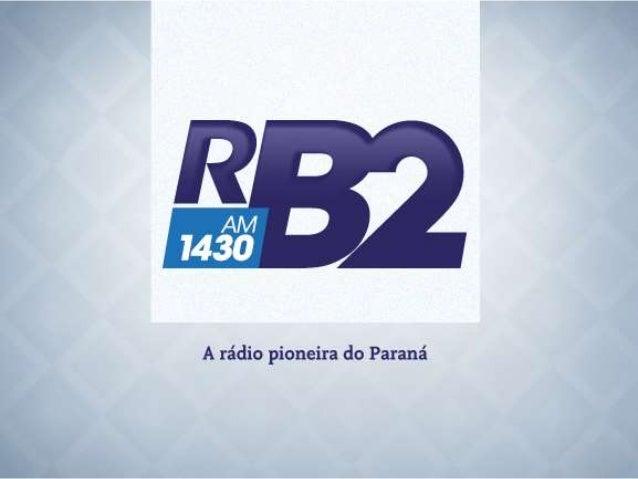 A Rádio RB2 é pioneira no Paraná, com sua primeira transmissão em 1924. Em pouco tempo, tornou-se uma das mais tradicionai...