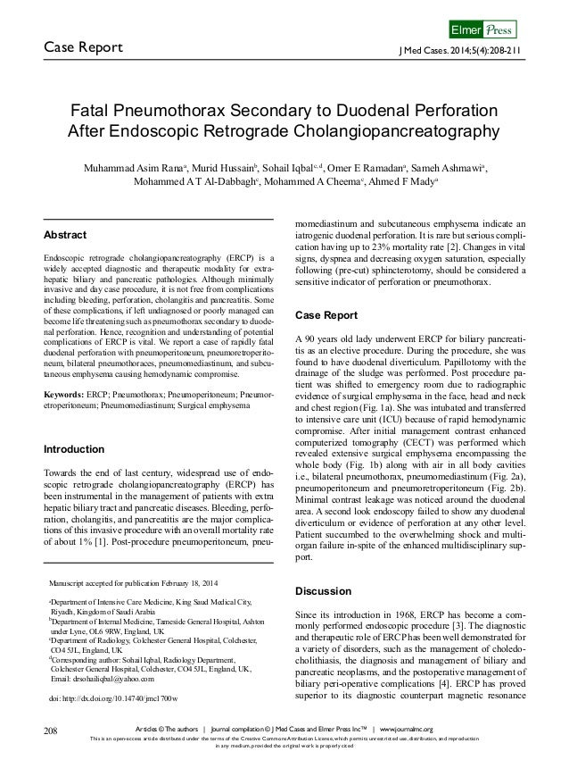 Case Report J Med Cases. 2014;5(4):208-211 PressElmer Articles © The authors | Journal compilation © J Med Cases and Elmer...