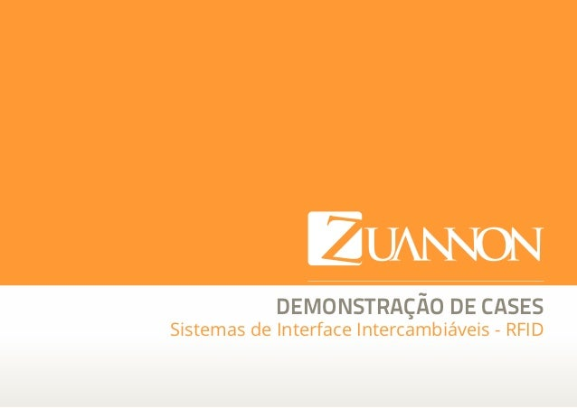 DEMONSTRAÇÃO DE CASES Sistemas de Interface Intercambiáveis - RFID  Zuannon Soluções Integradas  zuannon.com.br  facebook....