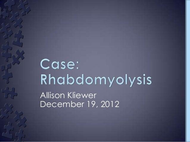Allison KliewerDecember 19, 2012