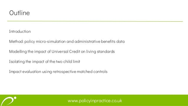Exploring the impacts of welfare reform using policy microsimulation and administrative benefits data Slide 2