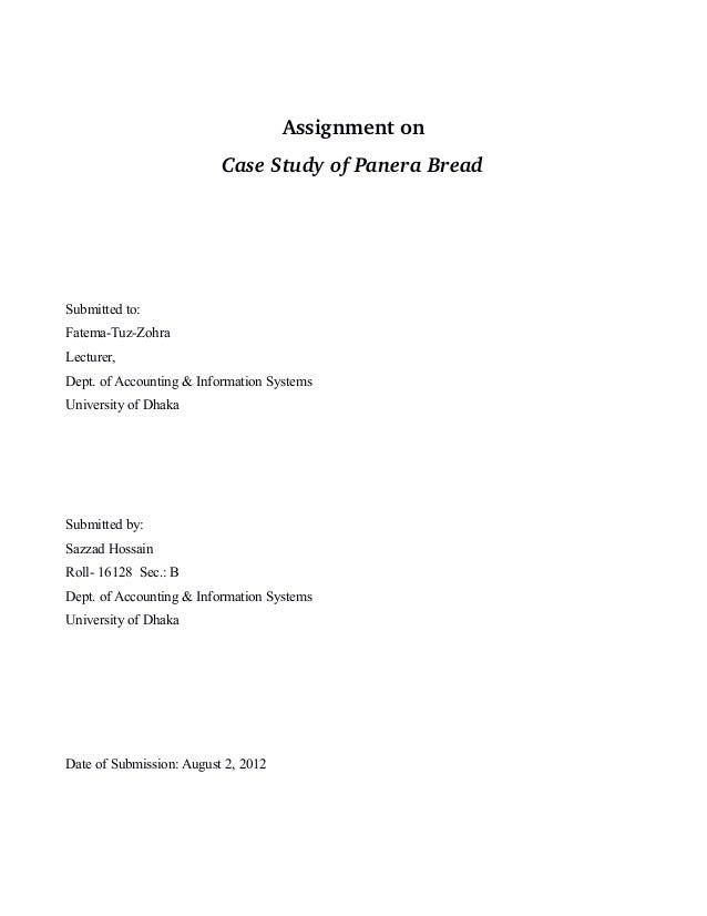 Amys bread case study