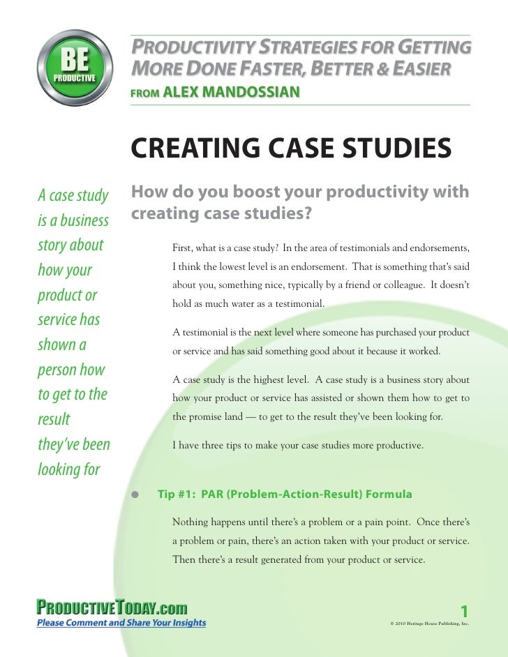 How To Make A Case Study Alex Mandossian How To Make