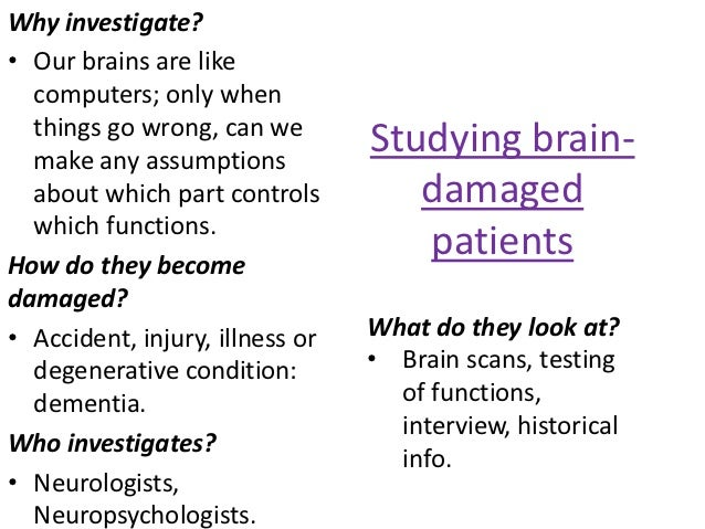 Why investigate?• Our brains are like  computers; only when  things go wrong, can we  make any assumptions                ...