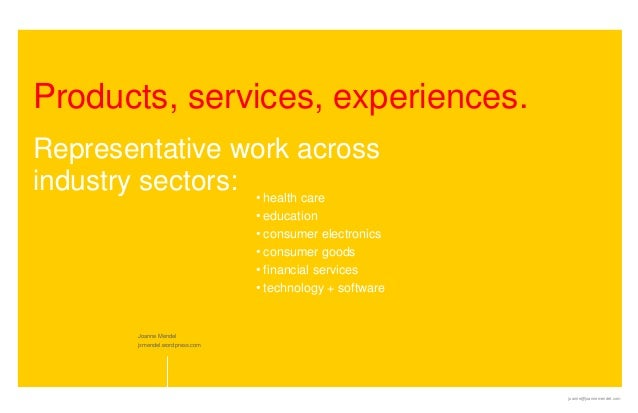 Products, services, experiences.Representative work acrossindustry sectors: • health care                                 ...