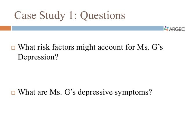 dr. zak case study on depression Find 100% verified psych 525 week 2 dr zak case study for university of phoenix students at assignmentehelpcom.