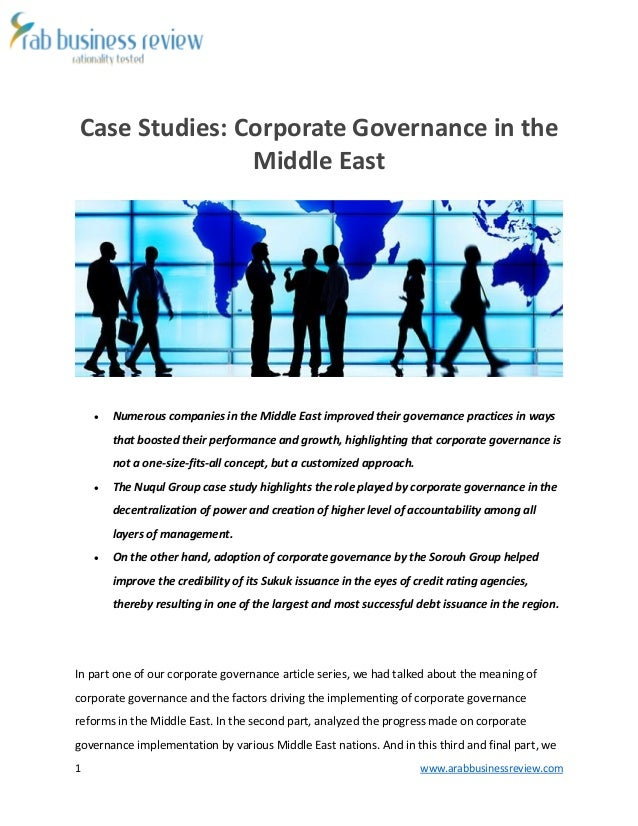 case studies on business ethics and corporate governance Corporate governance, business ethics and the importance of ethics today 7 case study: ibm acca's head of corporate governance and risk management.