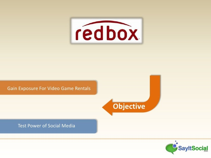 redbox case study Redbox case analysis topics: rental shop redbox is a leading provider of movie and game rentals in the nation a primary problem to this case study is the senior crowd.