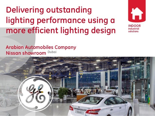 AAC 39 S Nissan Showroom LED Industrial Lighting Project Of