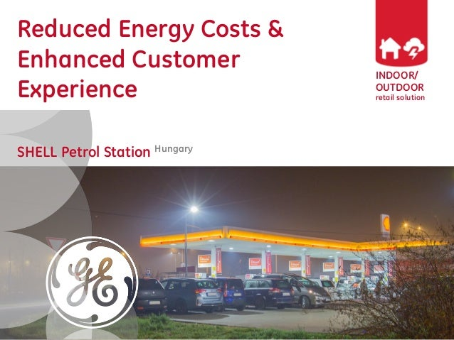 INDOOR/ OUTDOOR retail solution Reduced Energy Costs & Enhanced Customer Experience SHELL Petrol Station Hungary