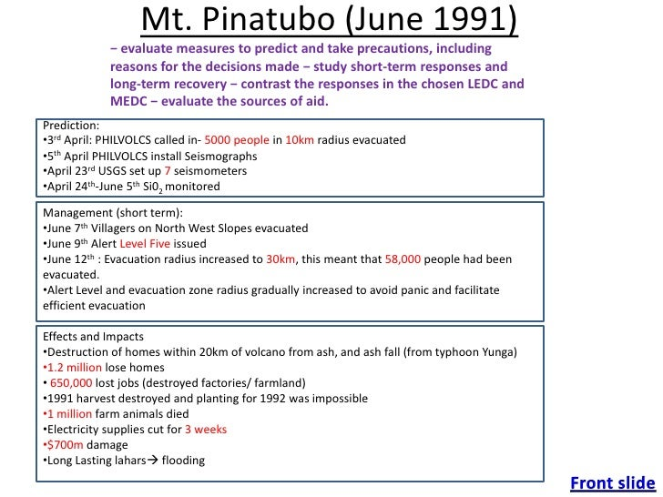 gcse geography mount pinatubo case study