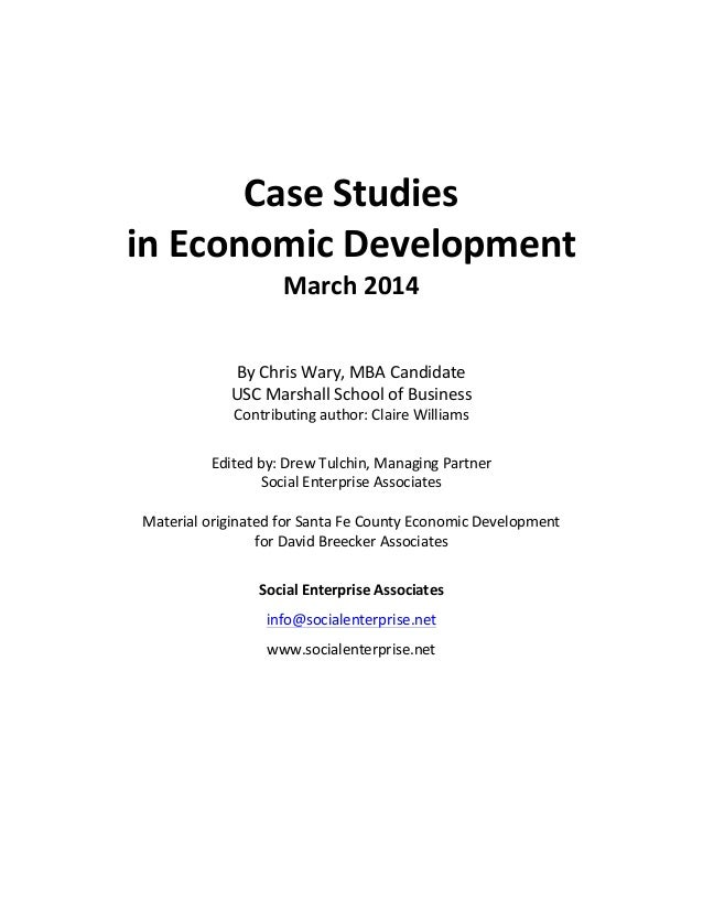 recent economic case studies Click here to jump to the featured case studies in the wake of natural disasters,  local and regional economies are extremely vulnerable.