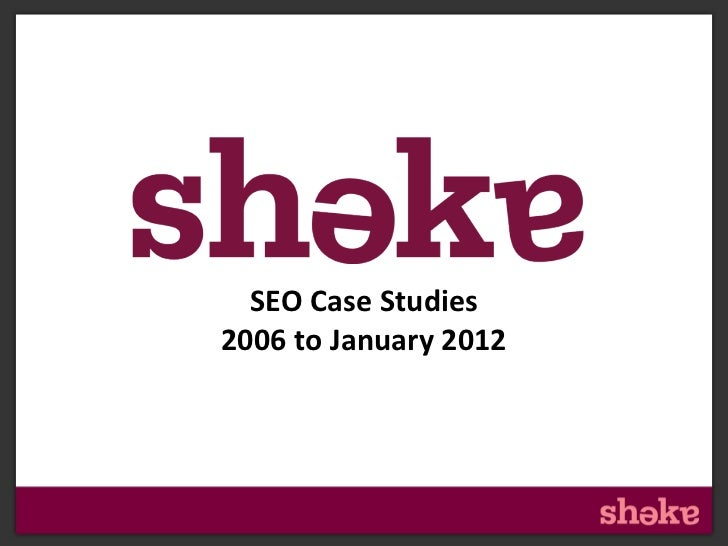 Header•   This is your text area                         SEO Case Studies                       2006 to January 2012