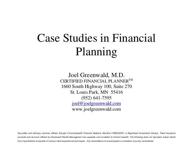financial planning case study pdf