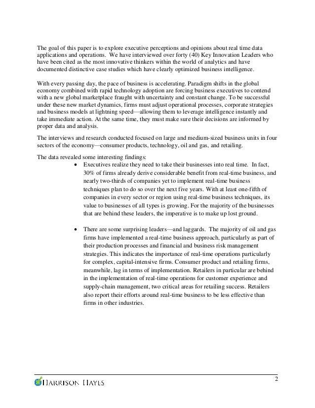 Case Studies Utilizing Real Time Data Analytics Slide 2
