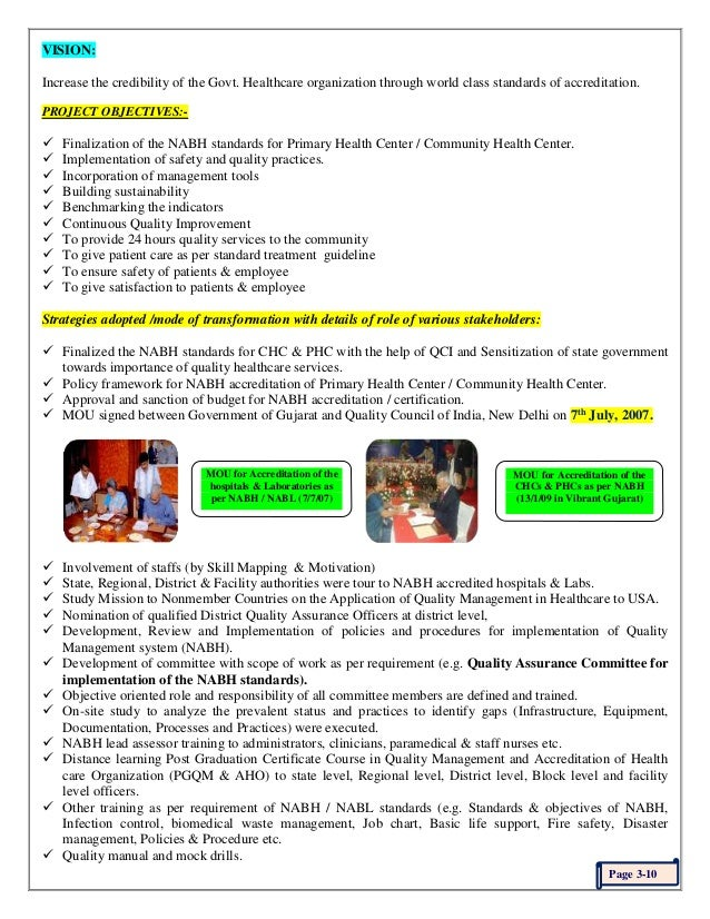 Setting High Standards Nabh For Phc Chc Of Services And Continue