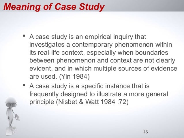 case analyze may mean