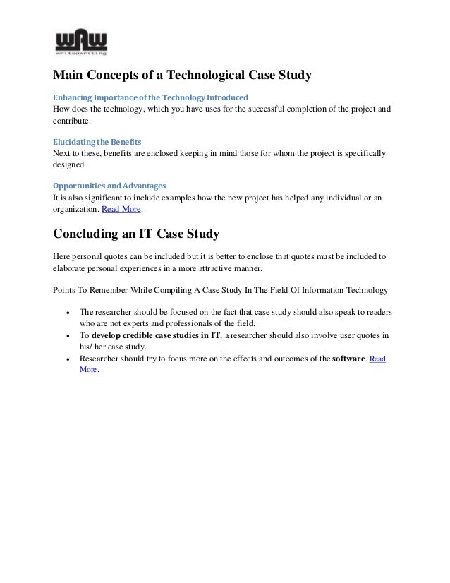 how to compile a case study
