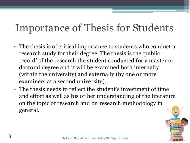 significance of the study sample essay