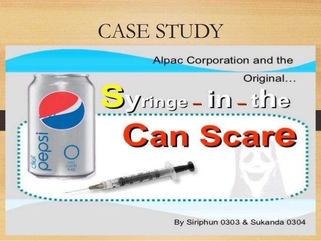 Pepsi syringe case study analysis