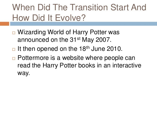 case study of harry potter The movies the first harry potter movie (harry potter and the philosophers stone) was released in the uk on the 16th november 2001 the last harry potter movie (harry potter and the deathly hallows – part 2) was released in the uk on the 15th july 2011.
