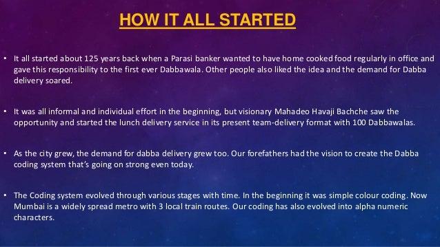 Case study on dabbawalas