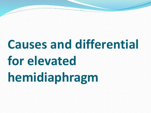 case study diaphragmatic eventration