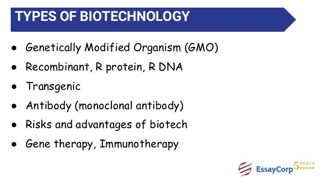types of biotechnology When most people think of opportunities for careers in biotechnology, they think of a scientist in a white coat in a laboratory developing drugs to improve the.
